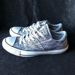 """CONVERSE ALL STAR """"Madison"""" metallic gray SHOES"""